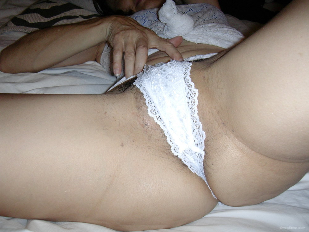 White sheer panty play with happy ending with this gorgeous milf