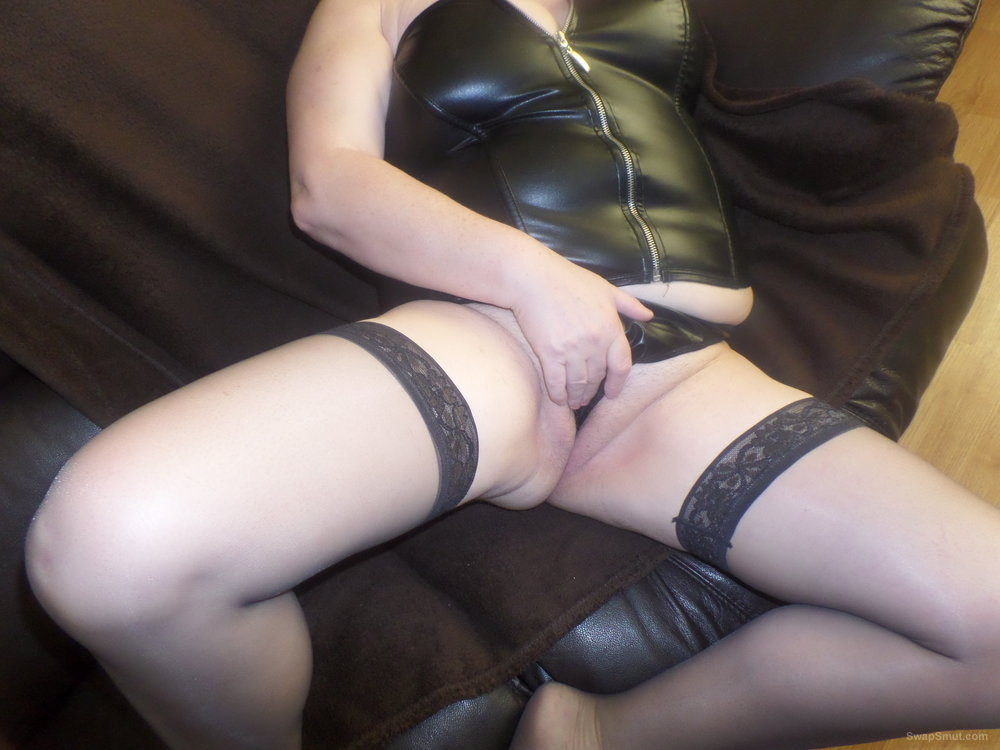 Horny wife with her new toy testing it out for size and fit