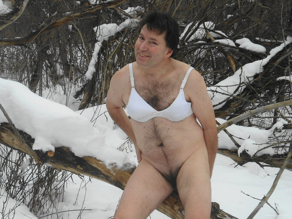 THINKING OF HOT TIMES SO I POSED IN SOME COLD PLACES