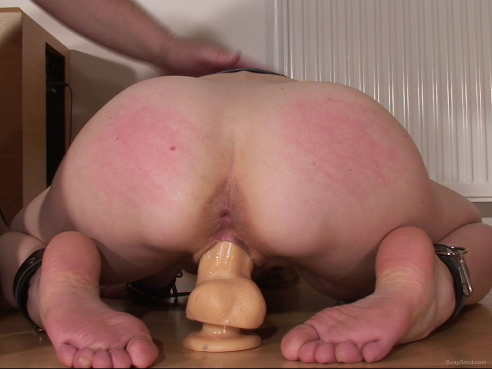 wife rides suction cup dildo