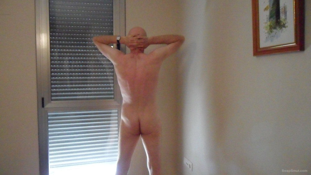 About time for a few more snaps naked with an erect penis
