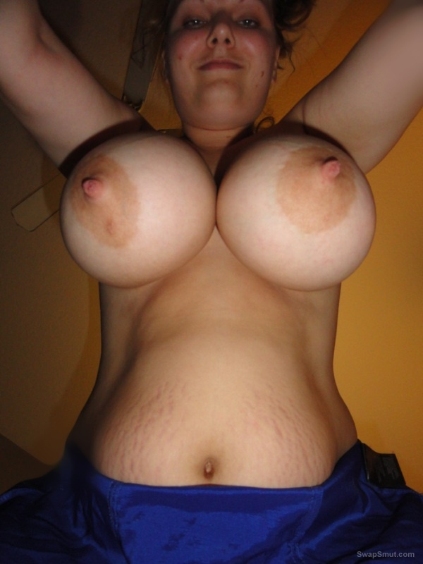 Slut wife loves to be shared with a big pair of all natural breasts