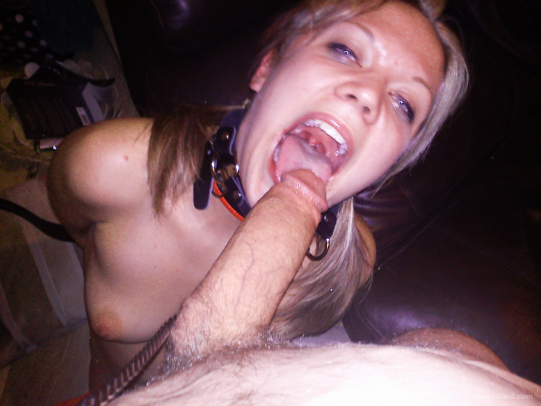 Cum on ball gag