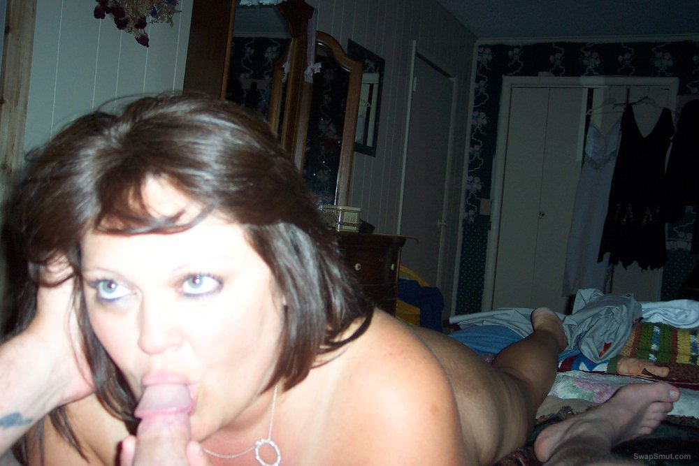 My girlfriend enjoying herself wrapping her lips around cock and suck
