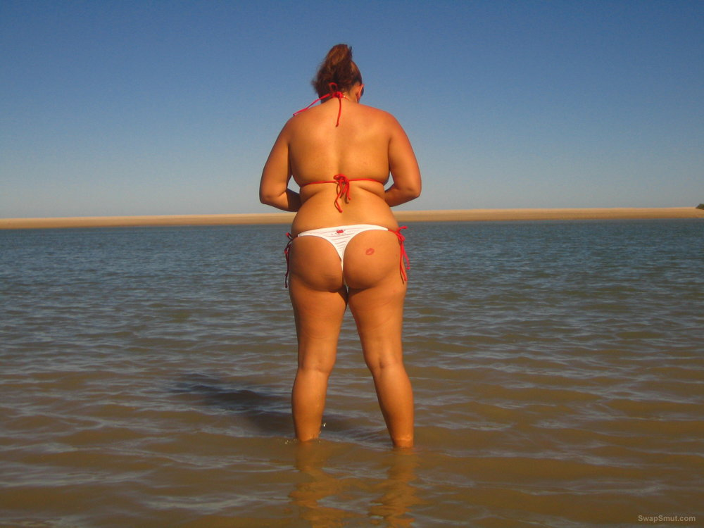Just hanging out at the beach in my thong