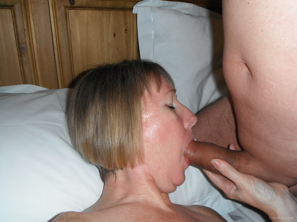 Wife Enjoying herself with a mouth full of penis and facial cum shot
