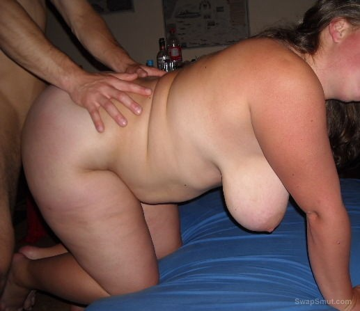 Having fun with hubby my chubby bisexual friend playing at home