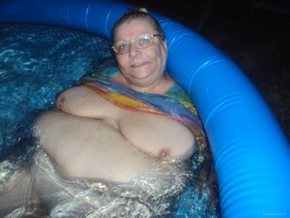 OUT SIDE IN THE POOL