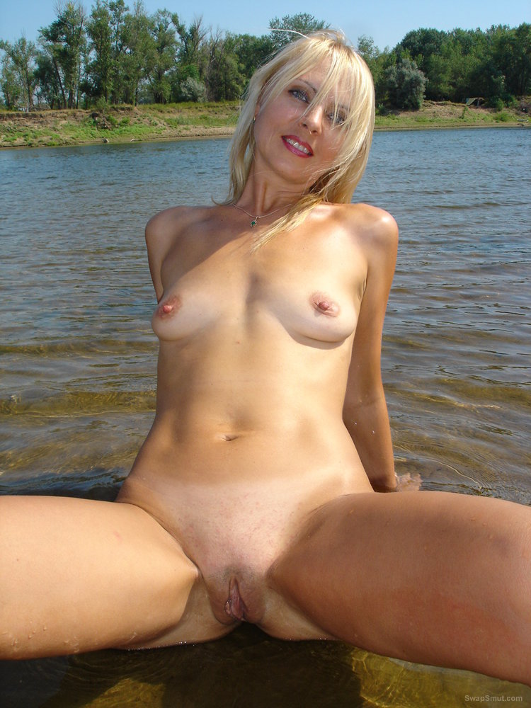 Blonde wife loves to strip outdoors naked