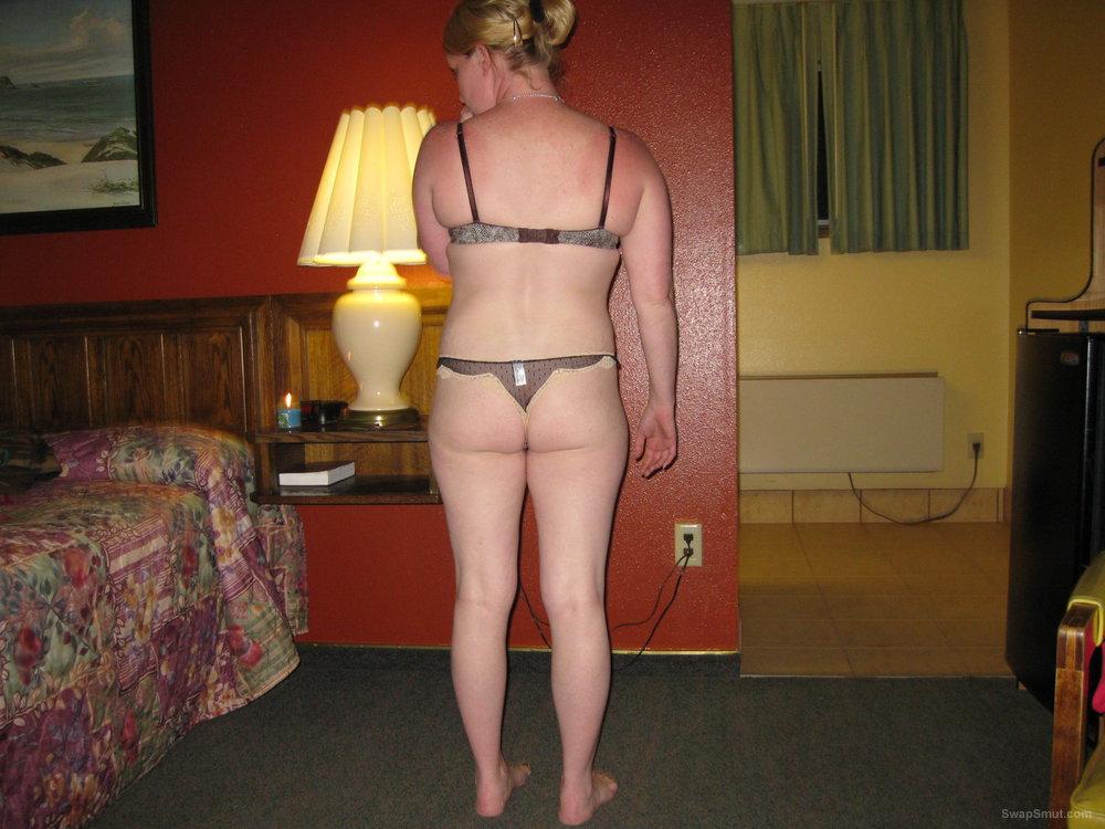 in my underwear showing off