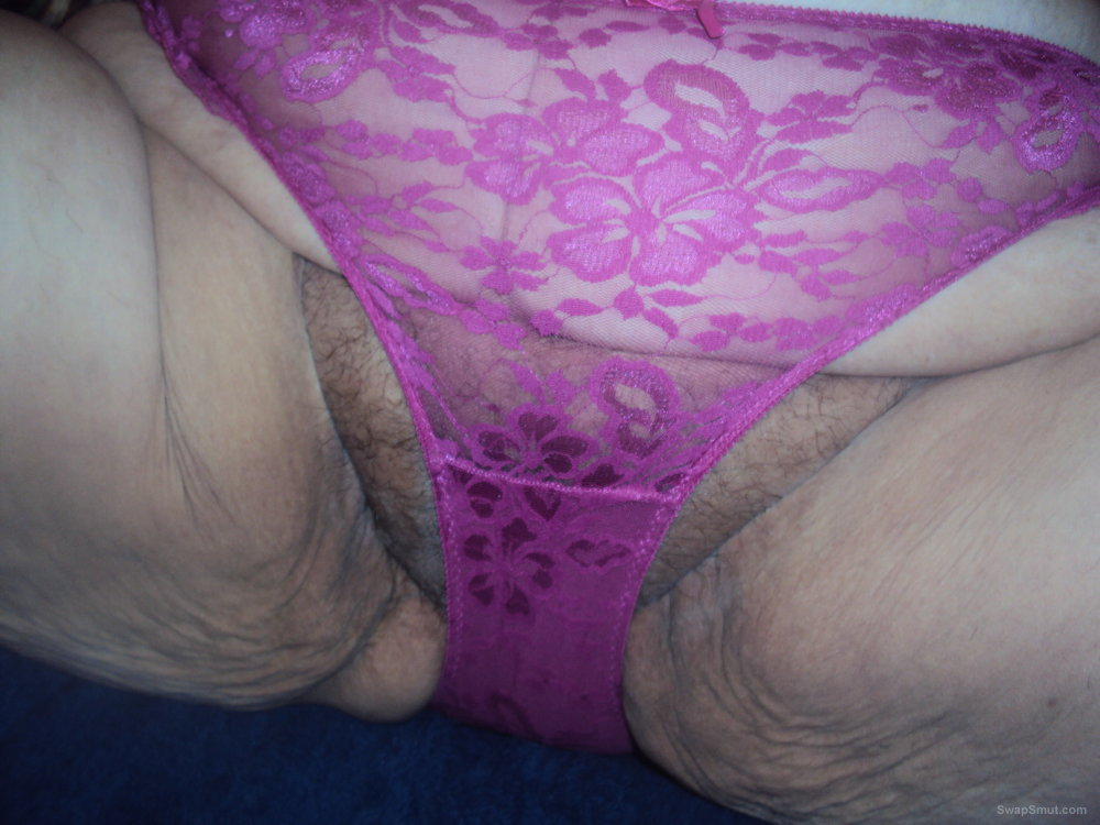 mature bbw showing off lacy pink panties