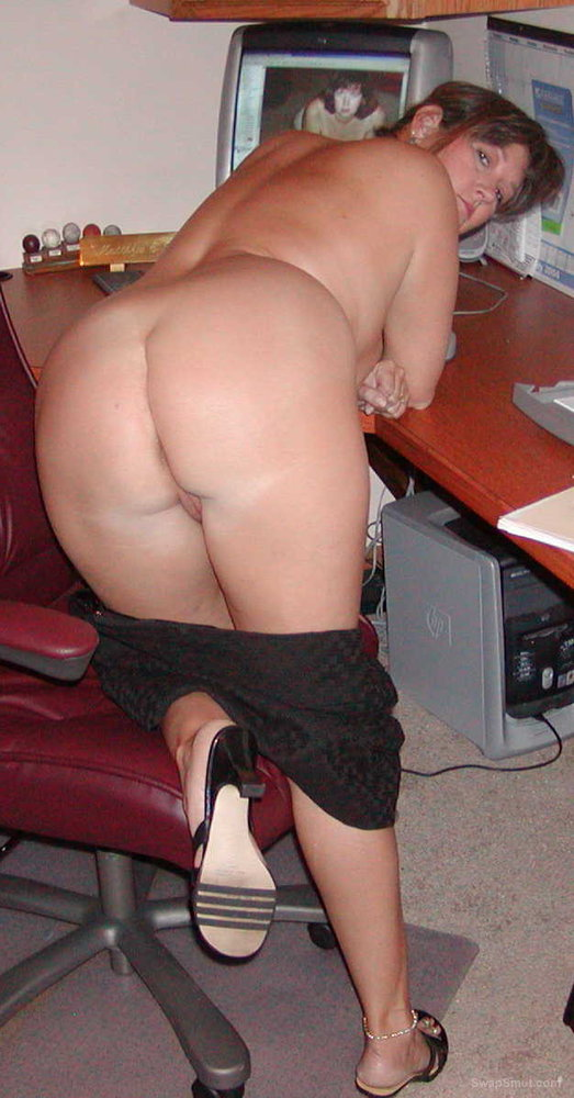 Mature office nude