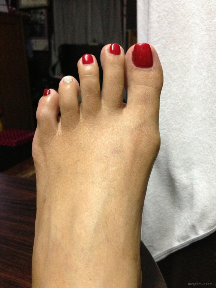Sweet Asian feet ready for play smell lick and cover
