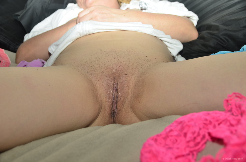 Playful girlfriend showing off for my camera