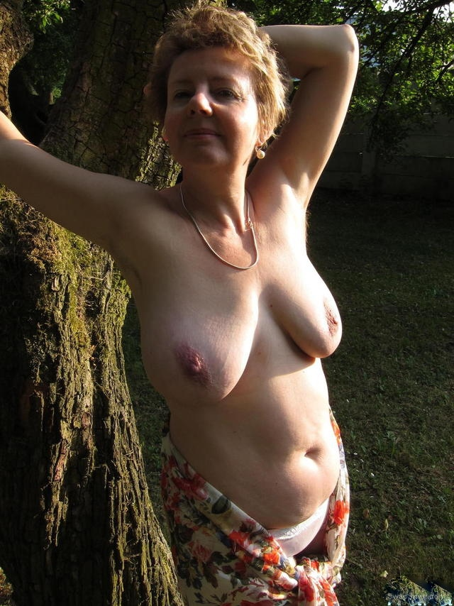 Ivana is all ways getting caught naked in her garden