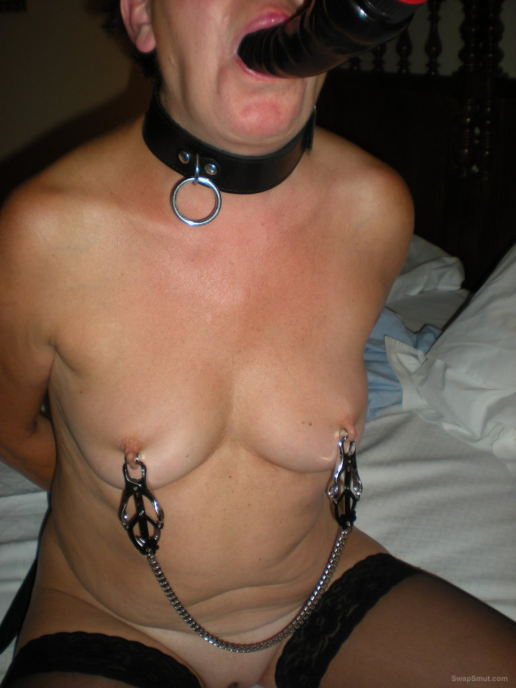 My mature slave whore exposed hanging weights from pussy and more