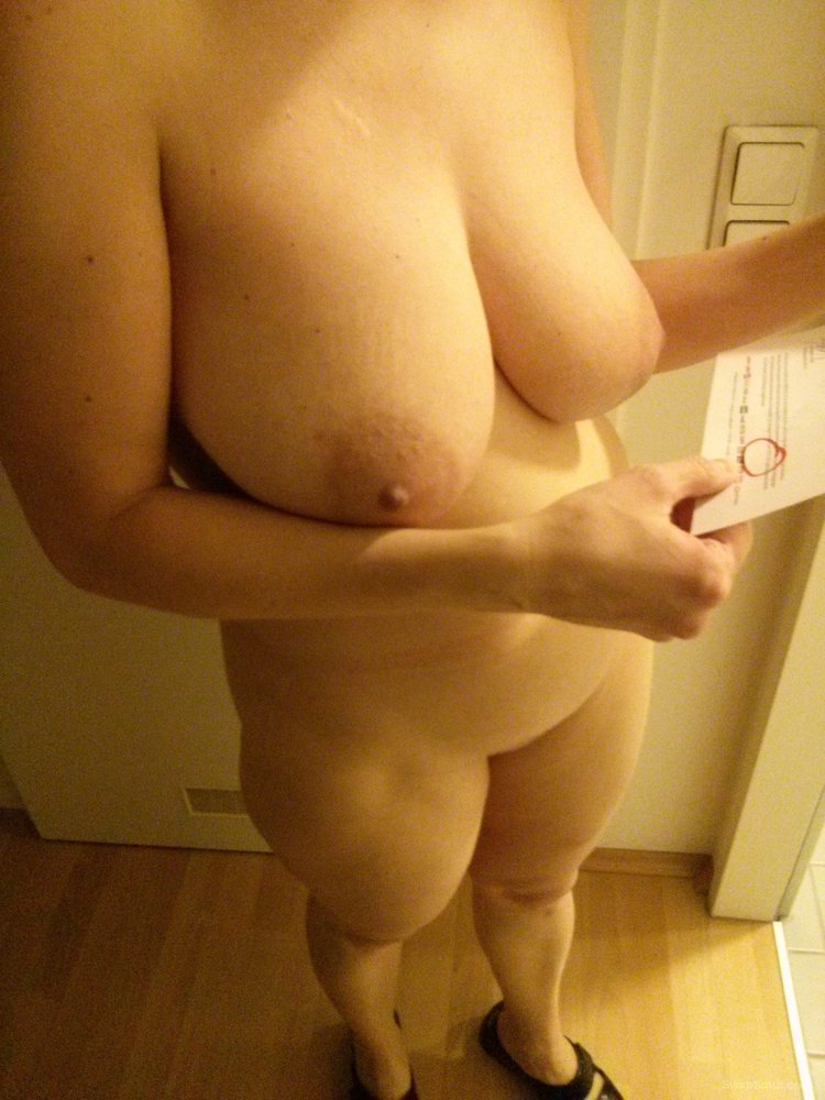My sexy partner showing off her chubby body and doing her chores