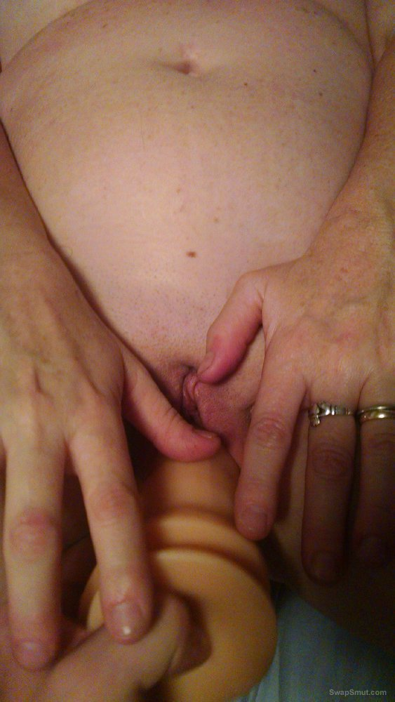 Wife showing off her favorite dildo