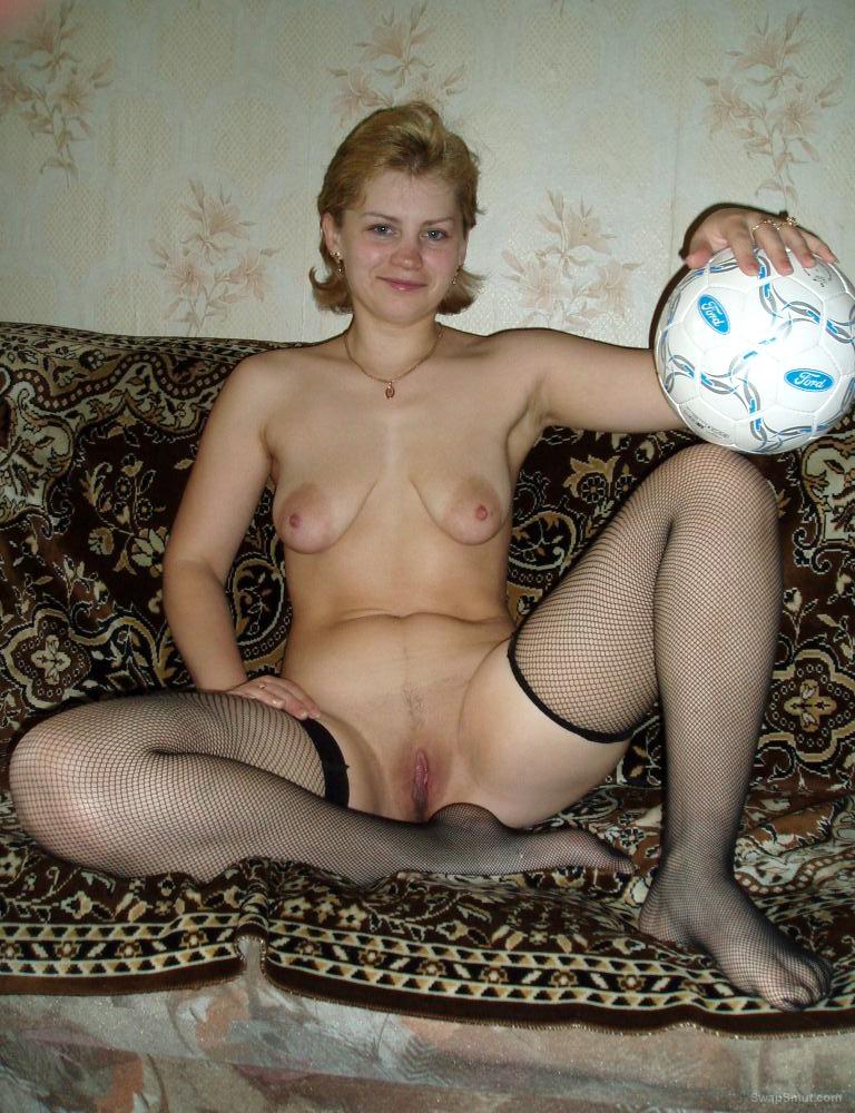Oksana Has a Ball in Her Hot Black Lingerie