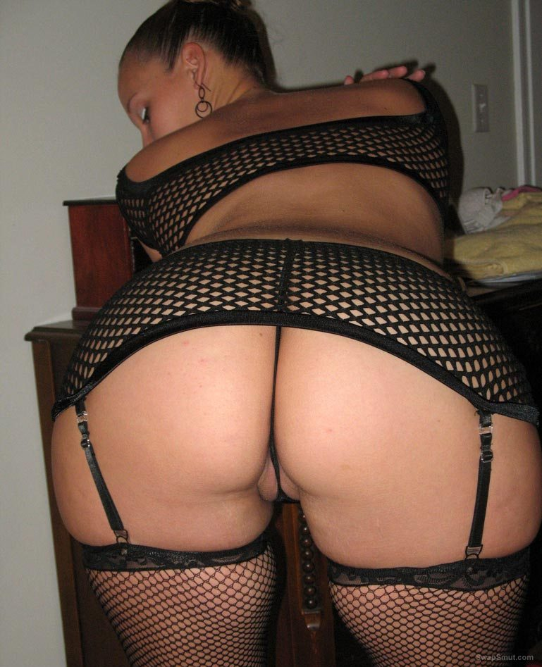 the real GOOD WIFE in hot sexy fishnet lingerie
