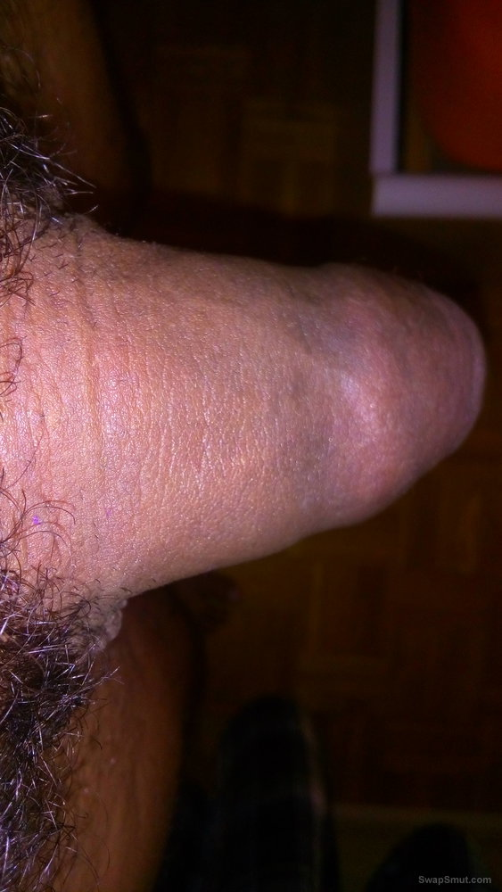 My little thick cock with 16,4 cm circumference little bit pumped
