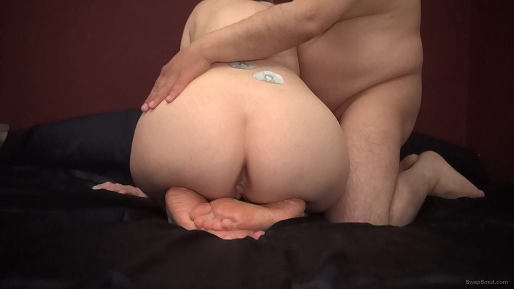My wife and me having fun with each other