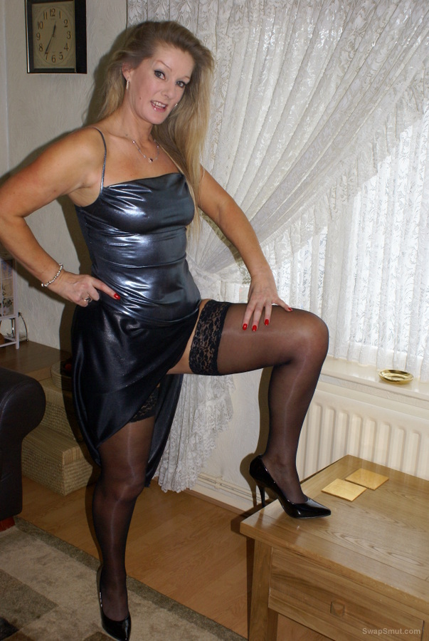 Stripping out of my evening dress and showing you everything