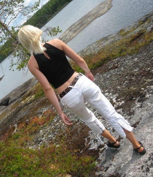 Sexy blonde BI swinger wife SELINA having fun posing sexy outdoors