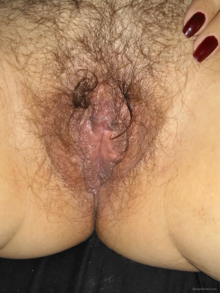My fat Hairy wet pussy up close and personal