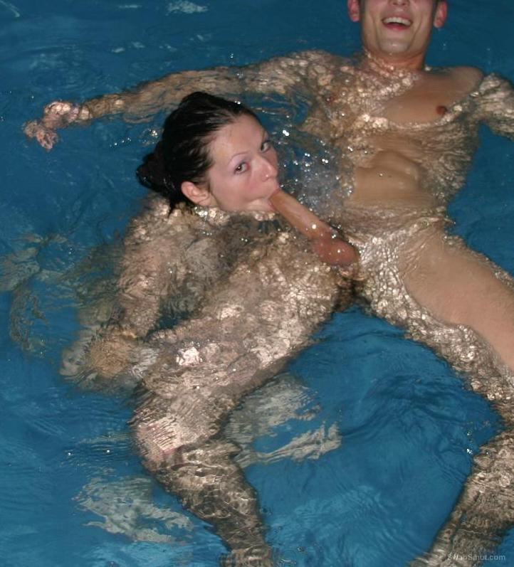 Sex in a swimming pool