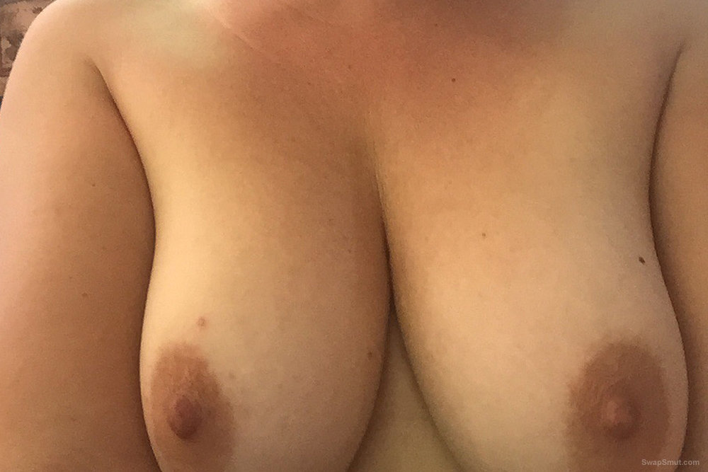 Summer heat - shaved pussy, erect nipples, and boobs