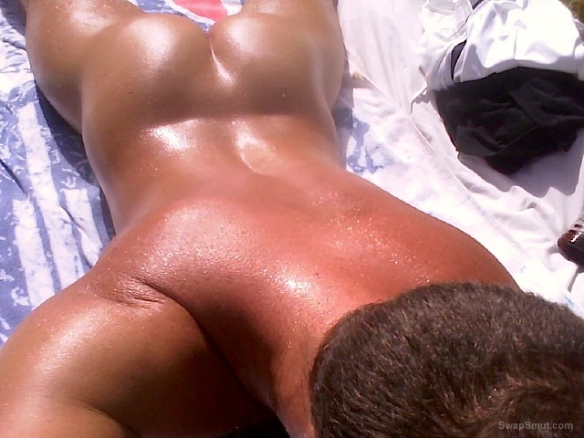 Me laying outside soaking up the suns rays relaxing in the garden