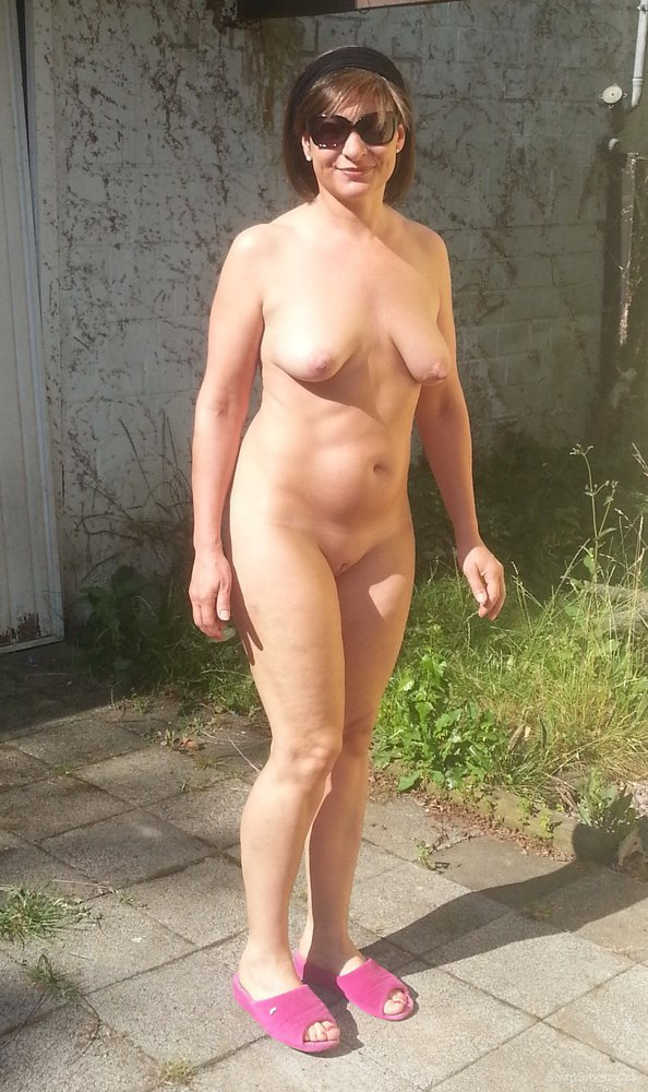 Naked girls sunbathing in backyard thanks