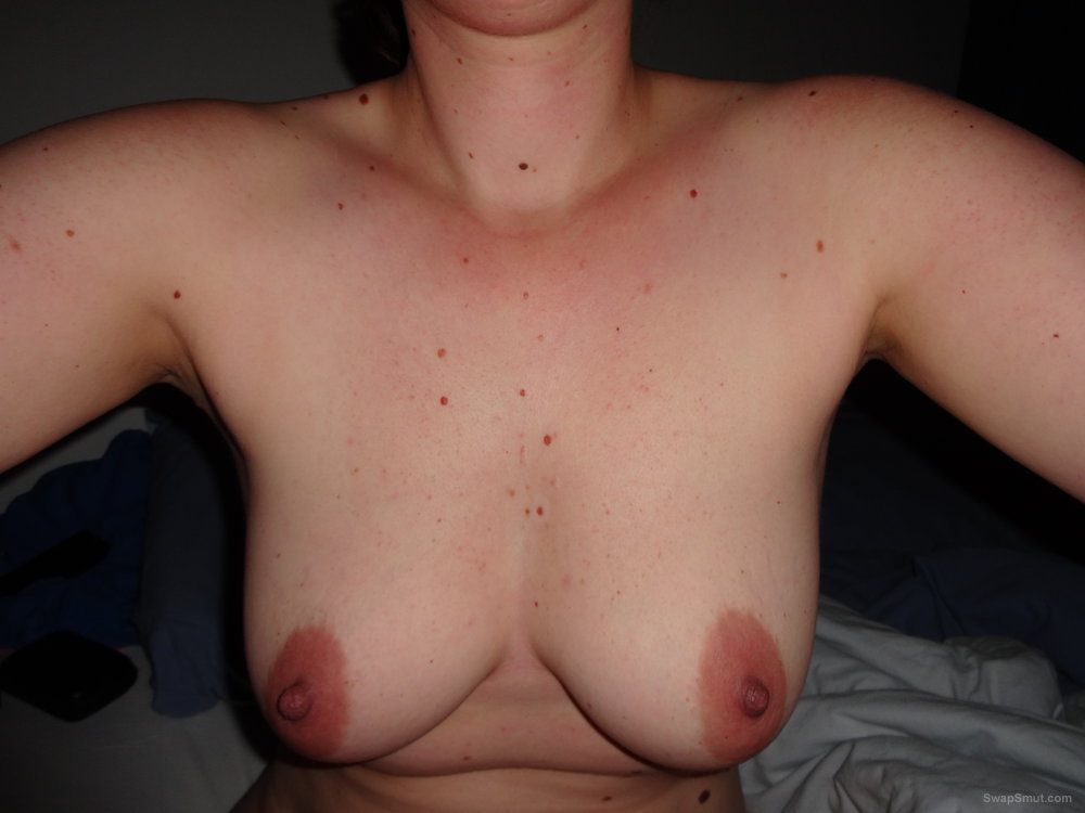 Wife loves showing off her big tits for me