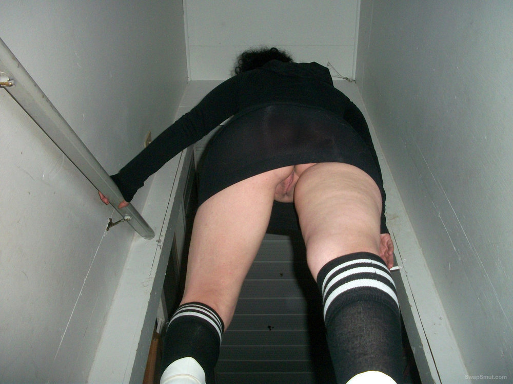 Upskirt video on stairs