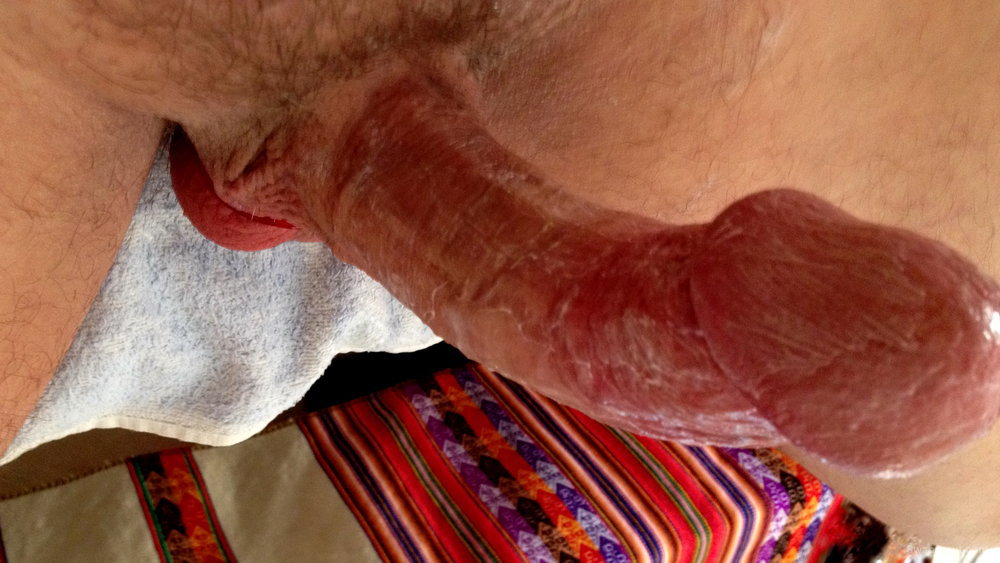 SOME PICS OF MY HARD COCK READY FOR A BJ