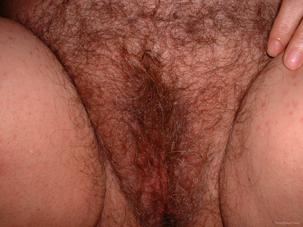 Wife's hairy pussy.
