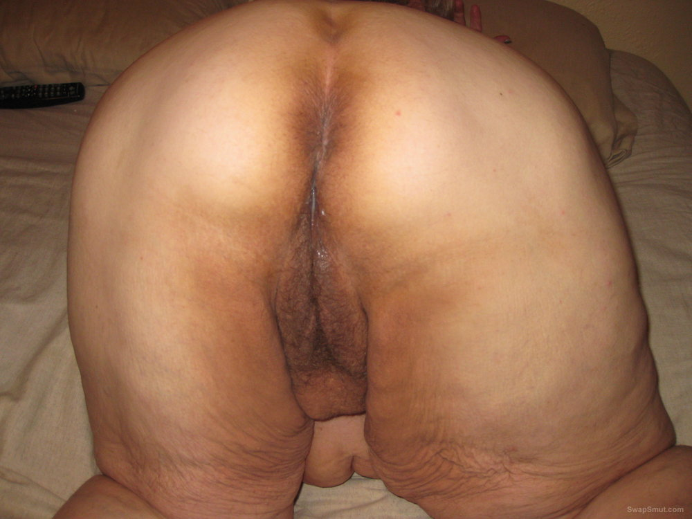 Mature showing bent over ass and pussy