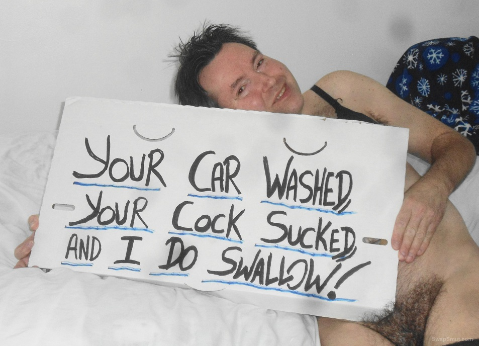 At the car wash for a good shine and your cock sucked with a swallow part two