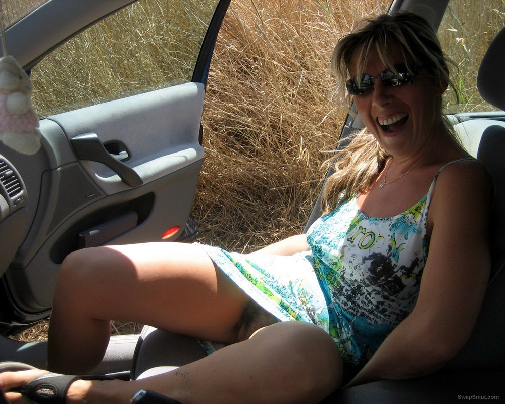 Sylvie Goes for s Drive and Poses in Her European Panties