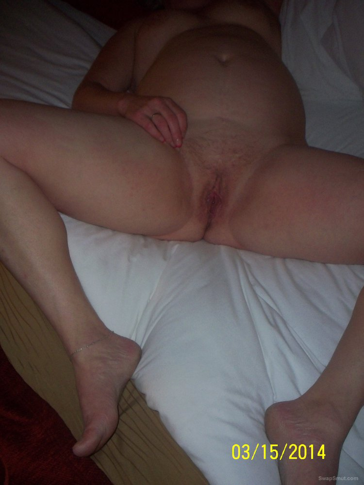 My BBW wife showing off her hairy cunt spreading lips