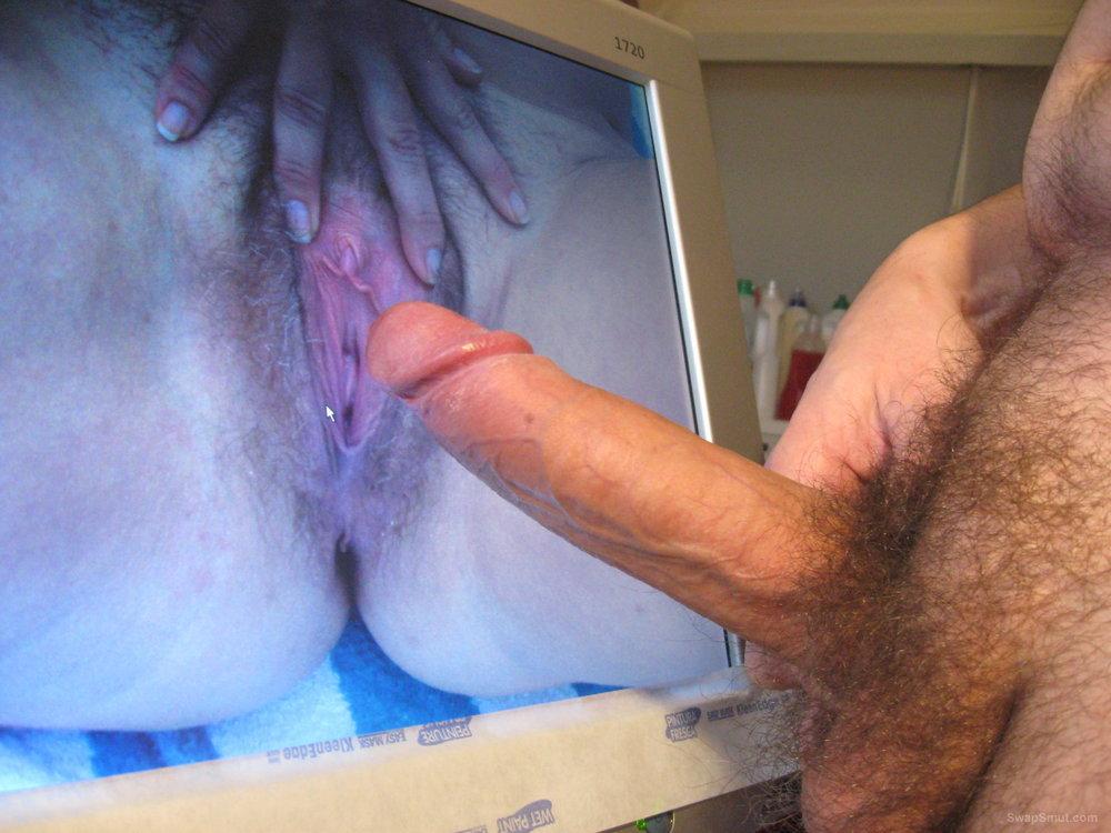 Jerking my big cock
