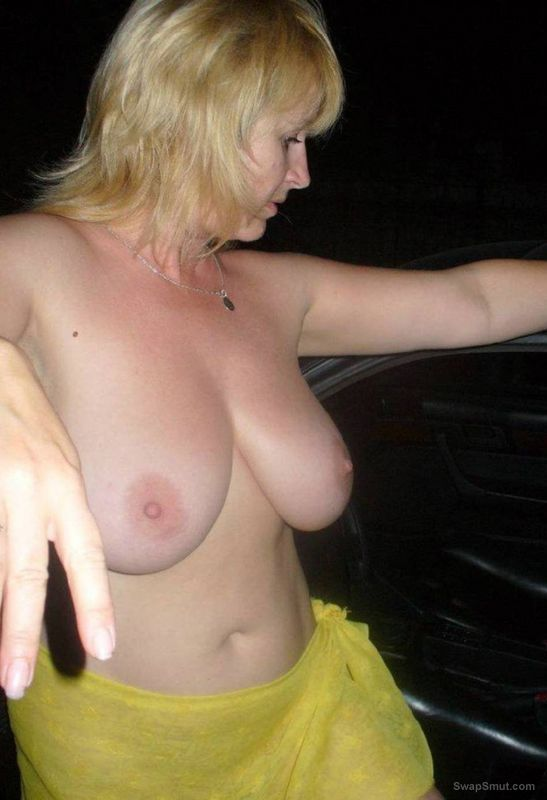 Just a few of me fooling around in the car tits and cunt on show