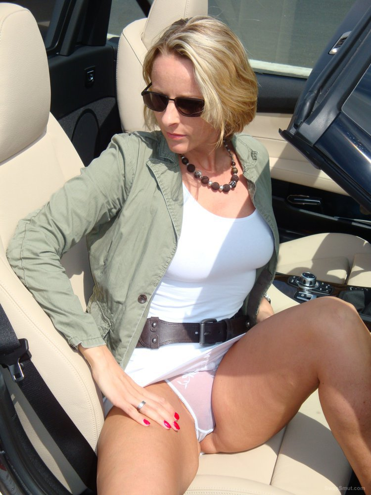 Giving my sexy blonde secretary a lift home in my sports car