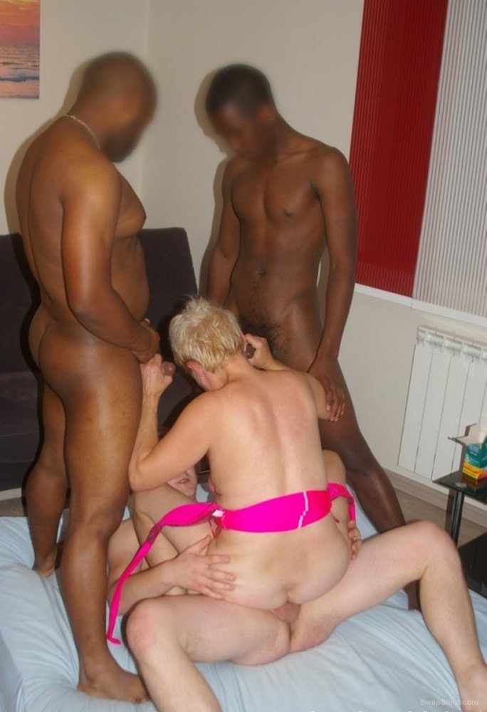 Marie get a fucking from Bill and two African mates on Sunday night