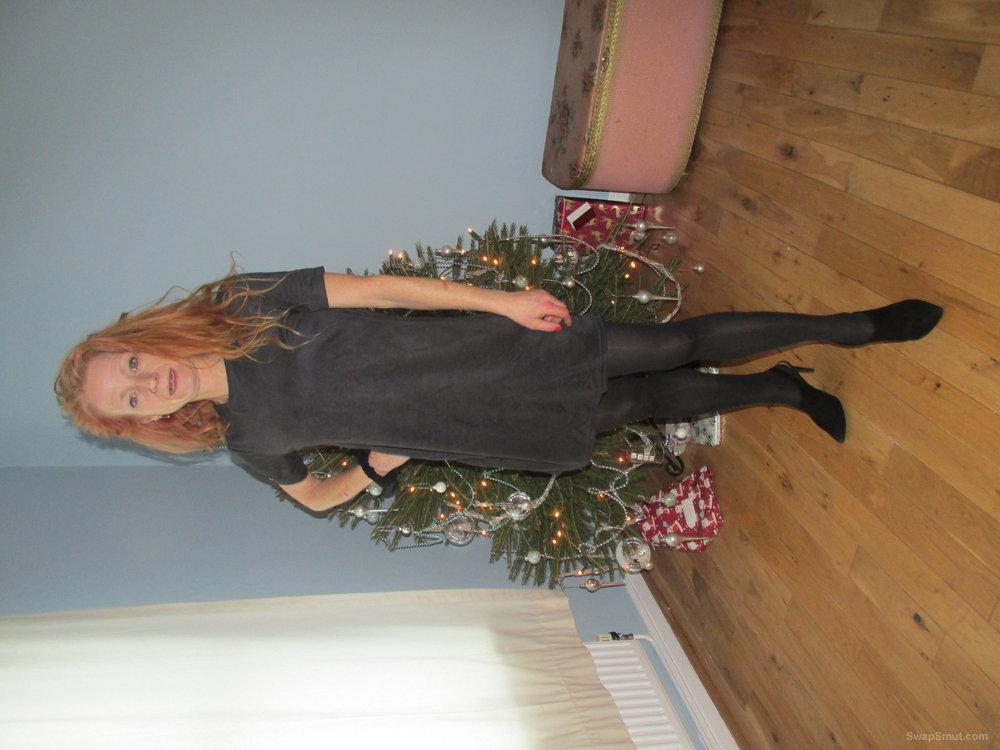 Mature slut in seasonal dress and undress