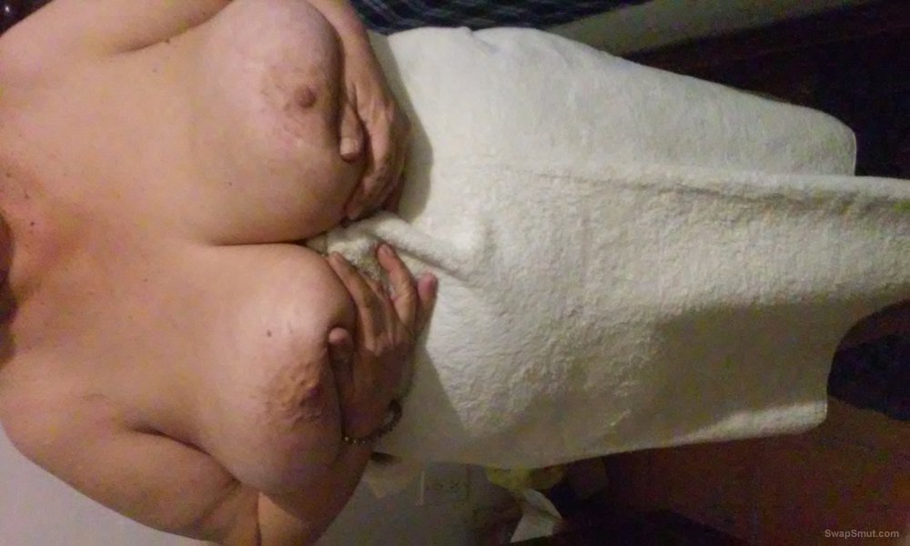 My Big Beautiful Wife shows her tits to the world