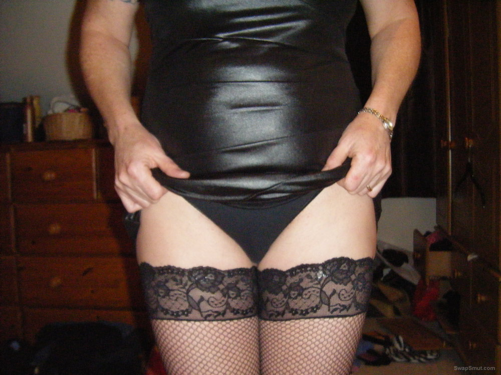 SEXY COCKS WIFE IN BLACK UNDERWEAR WAITING FOR BLACK