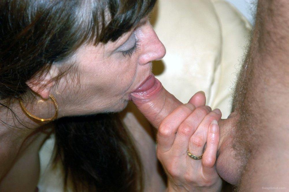 Leggy mature swinging wife BETH having some spit roast fun