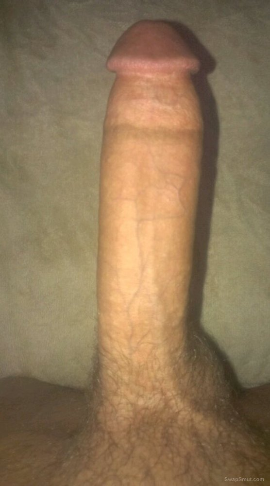 Stroking cum from my lubed up cock and showing skin